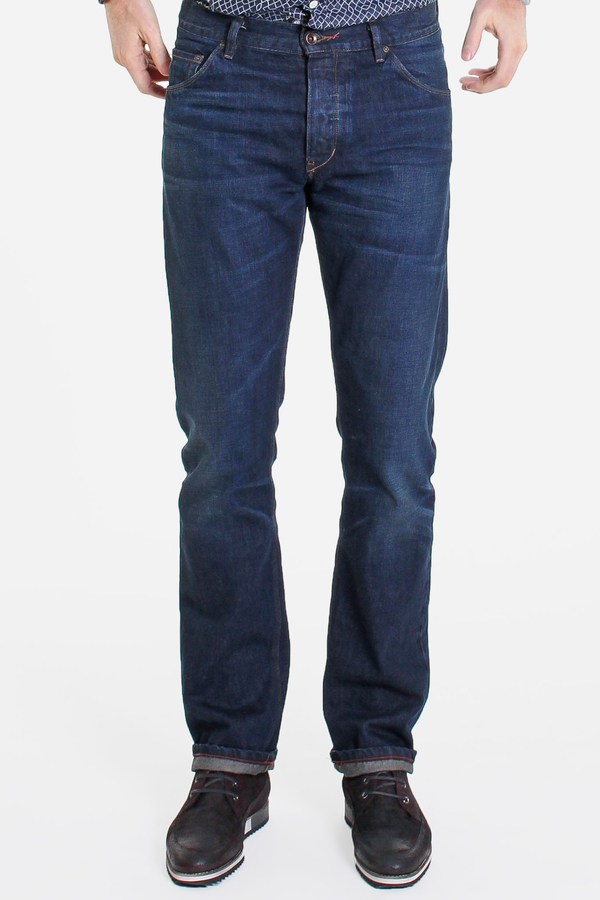Men's Raleigh Denim Workshop RDW + V&V collab in Bull City Jones Organic
