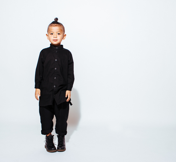 même MARLEY Black Extended Button-Up Shirt