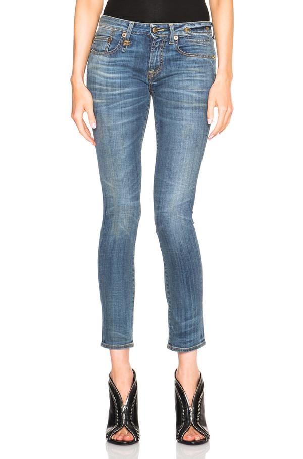R13 'Kate' Skinny in Bankrobber Blue