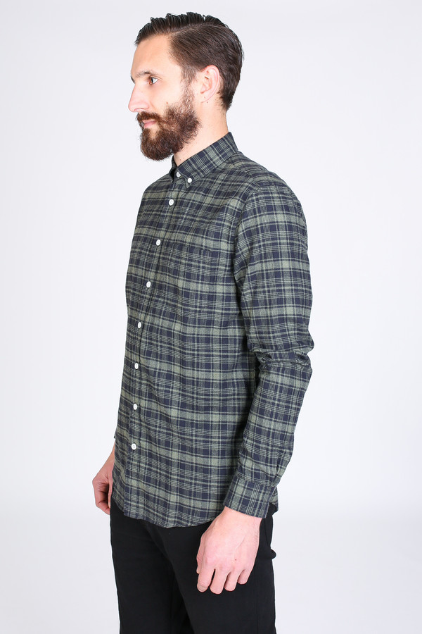 Men's Steven Alan Masters Shirt in Black Plaid