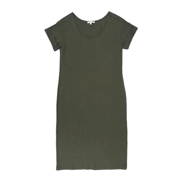 Ali Golden Roll-Sleeve T-Shirt Dress - Olive