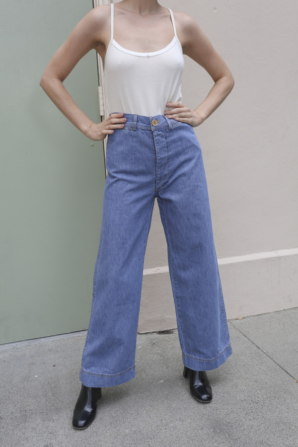 Caron Callahan Stewart Pant in Blue Denim