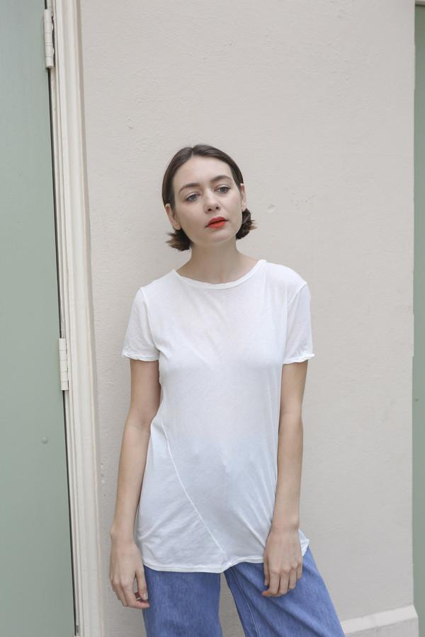 Lauren Manoogian Vellum Baby Tee in Bone