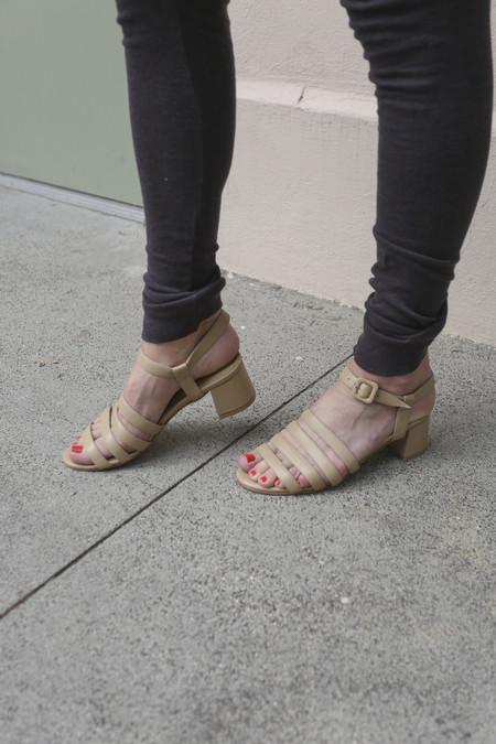 Maryam Nassir Zadeh Palma Low Sandal in Camel Calf