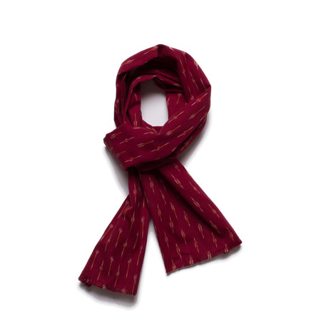 Corridor Striped Maroon Scarf