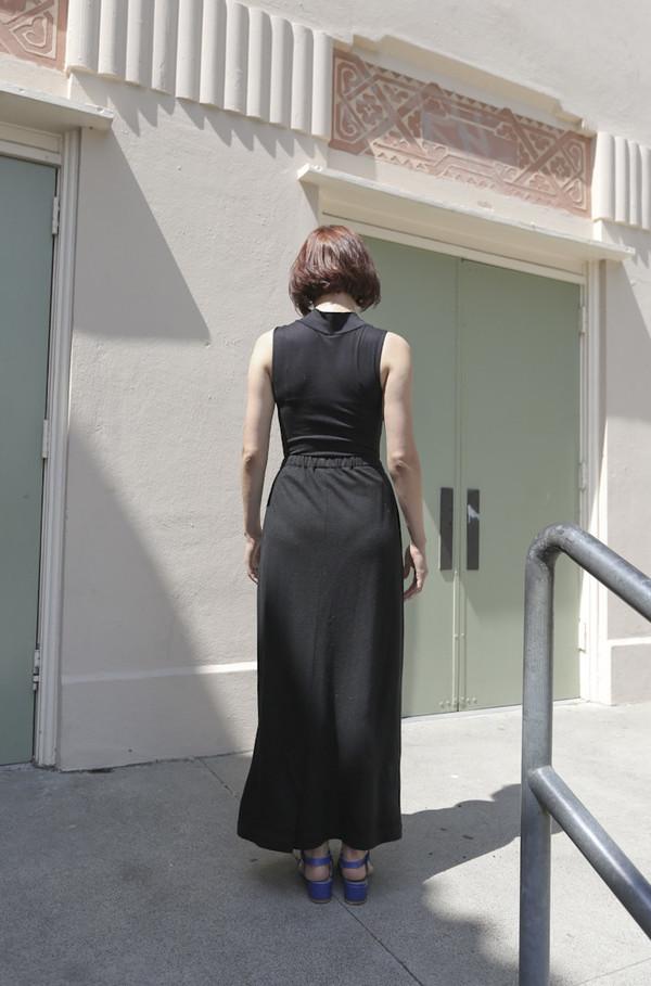 Eskandar Vintage Cashmere Jersey Long Skirt