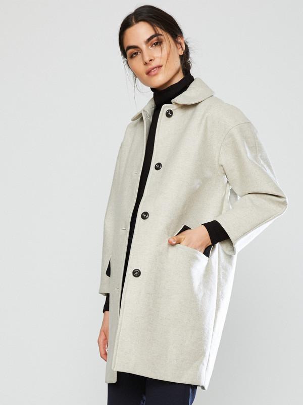 YMC Neoprene Wool Coat