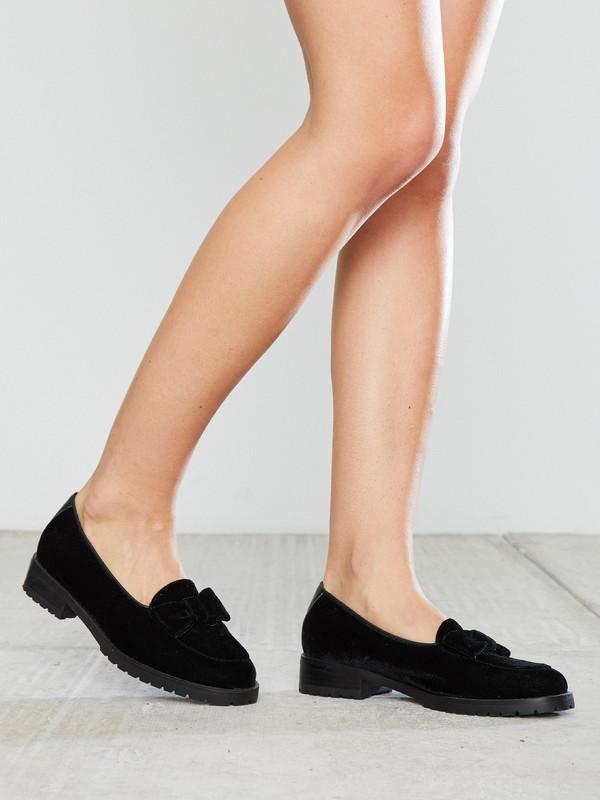 F-Troupe Velvet Bow Loafer