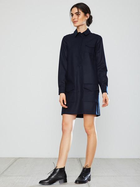 YMC Wool Shirt Dress