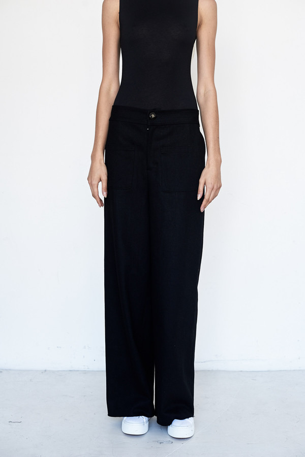 Index Series Cotton Wide Leg Trouser