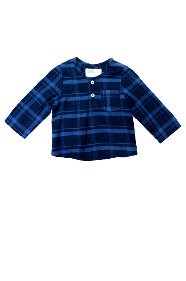 Kid's Boy+Girl Nico Kurta - Blue Stripe