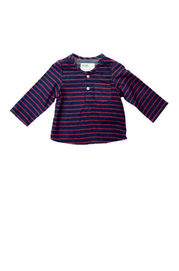 Kid's Boy+Girl Nico Kurta - Red Stripe