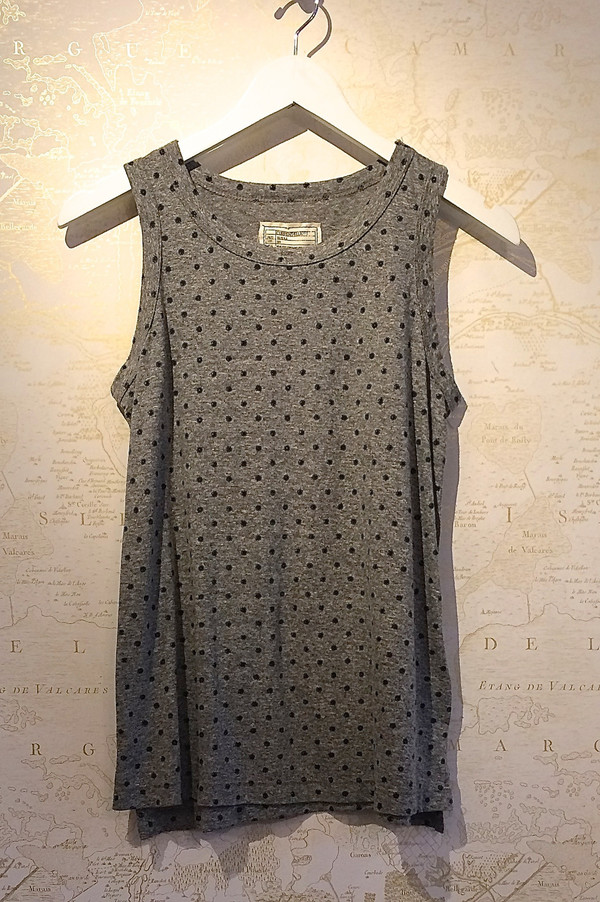 Current Elliott Polka Dot Muscle Tee