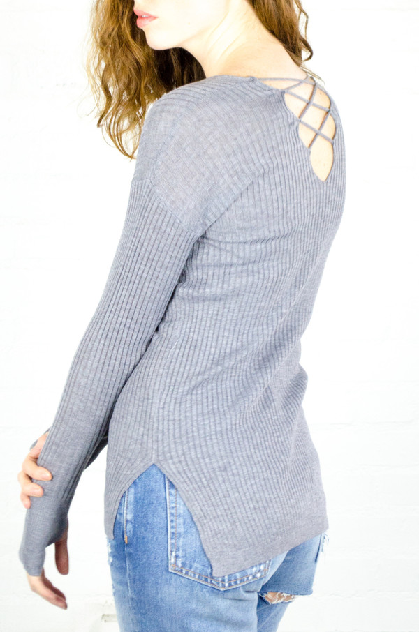 Heartloom Fog Evie Sweater