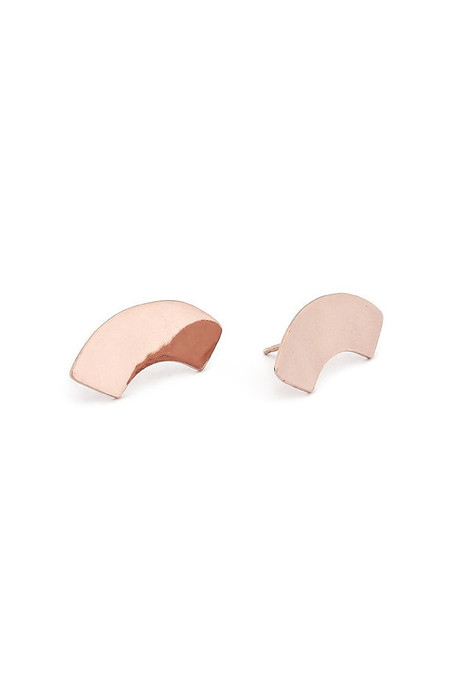 Rose Gold Arc Studs || Erin Considine