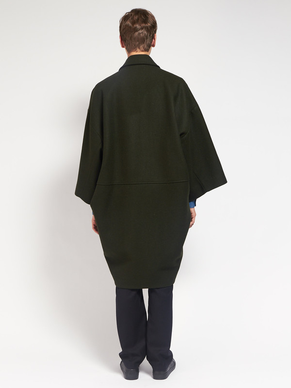 Men's Henrik Vibskov Last Coat Hunter Green