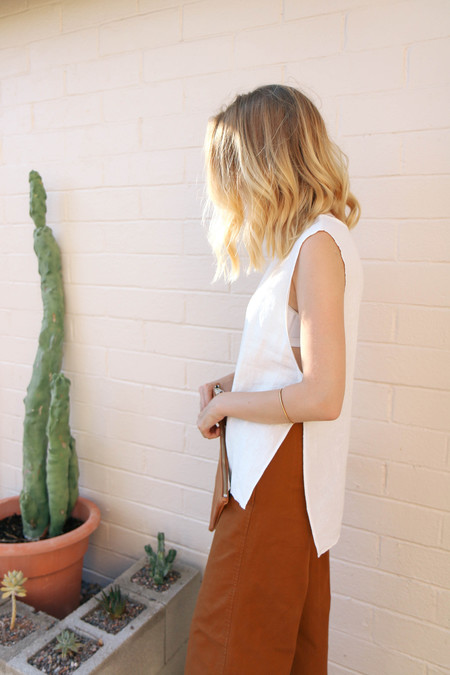 Ozma Apron Tank in White