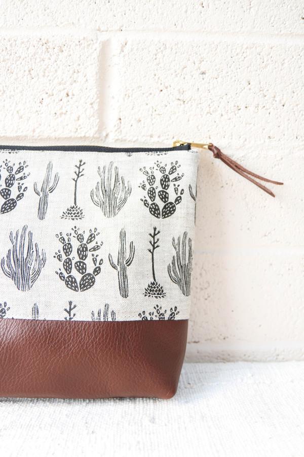 Amelie Mancini Cactus Large Zipper Case