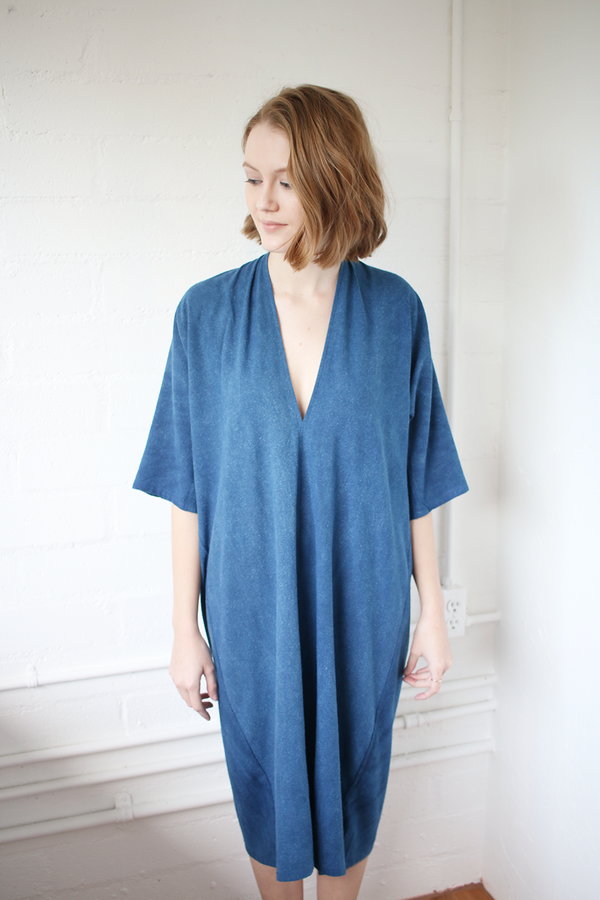 Muse Dress in Classic Indigo