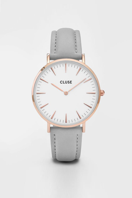 CLUSE WATCH La Boheme Rose Gold White/Grey