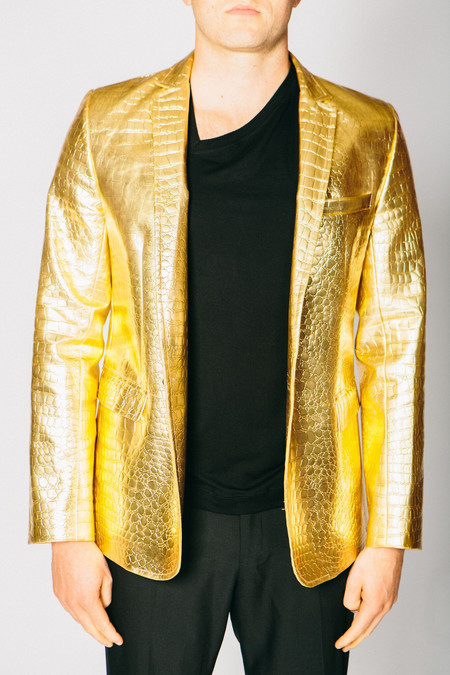 Men's Any Old Iron Golden Croc Of Shite Blazer