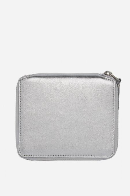 Men's Comme des Garçons Leather SA-2100G Zip Wallet - Silver