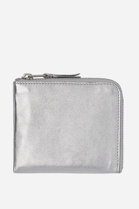 Men's Comme des Garçons Leather SA-3100G Half Zip Wallet - Silver