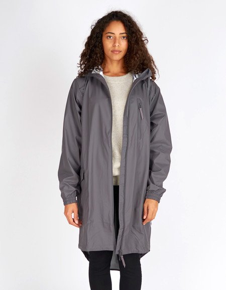Rains Parka Coat Women's Smoke