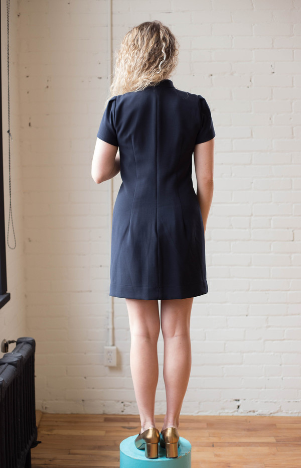 Birds of North America Apalis Dress (Navy)