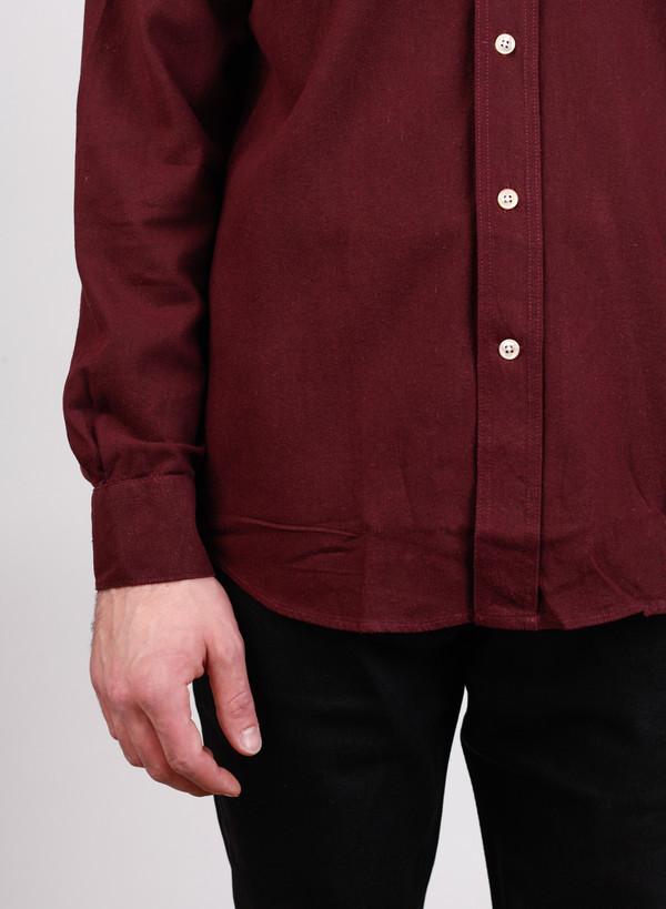 Men's Our Legacy Classic Shirt Burgundy Silk