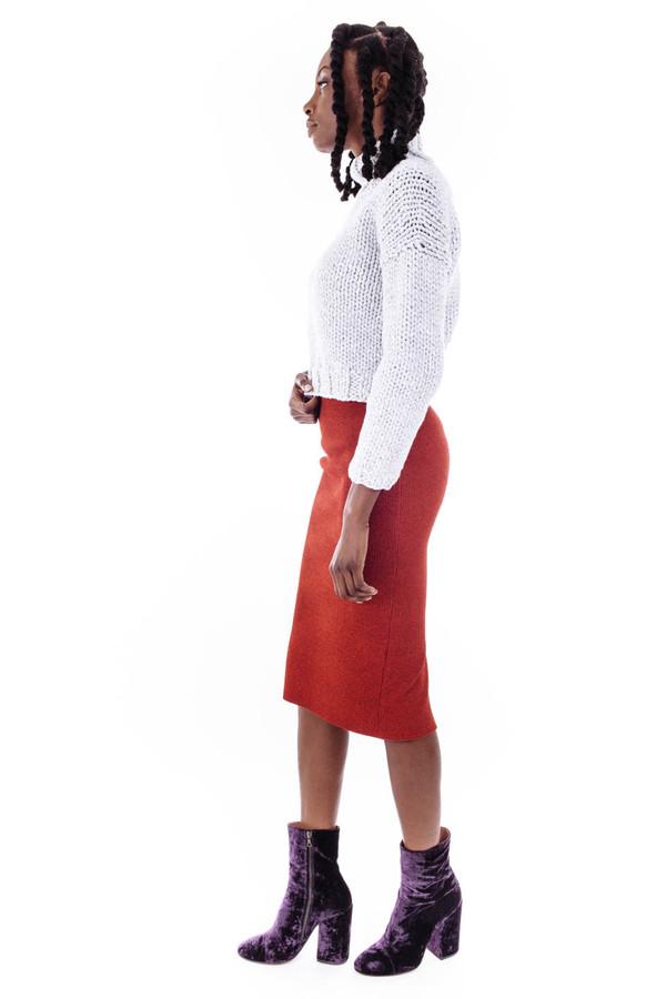 Nanushka Aran Knit Pencil Skirt