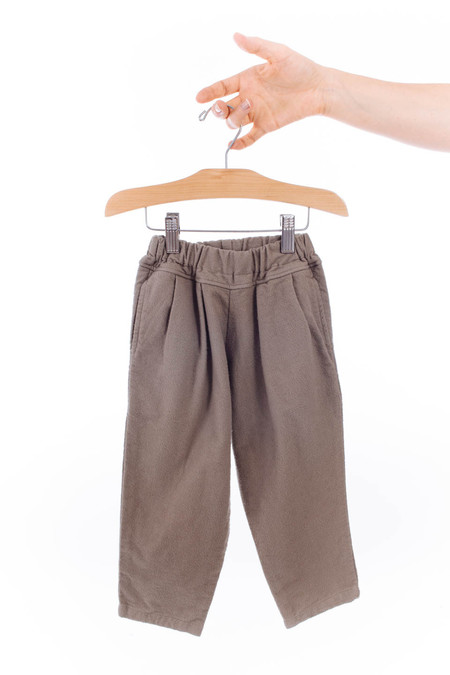 Black Crane Kids Carpenter Pants (Cement)