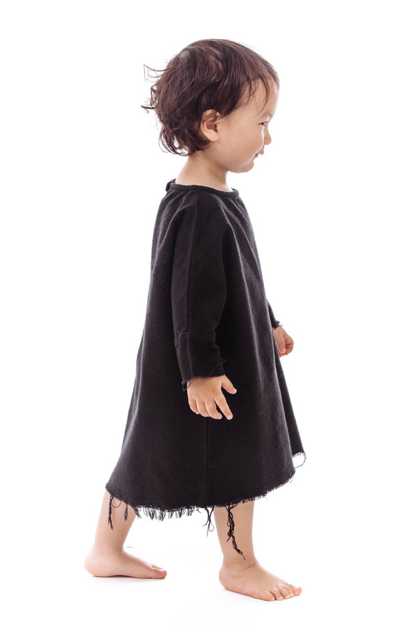Black Crane Kids Painter Dress (Black)