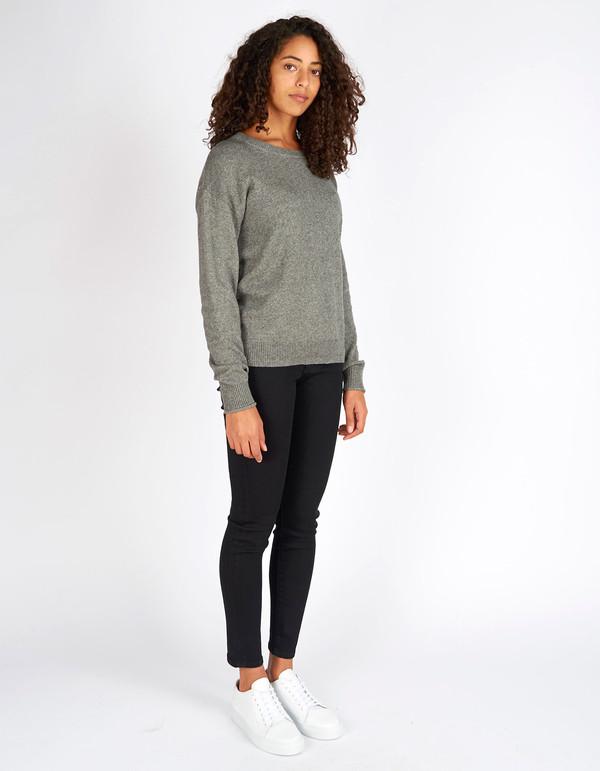 Filippa K Cotton Yak Pullover Grey Melange