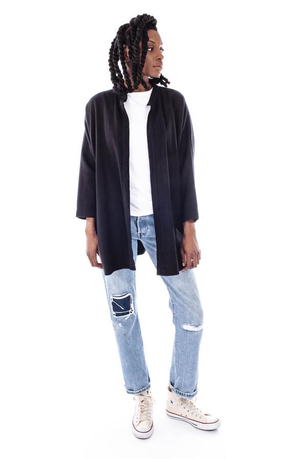 Black Crane Square Shirt (Black)