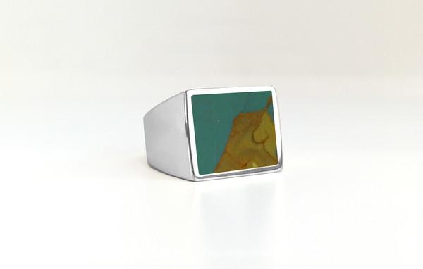 Legier Owyhee Picture Stone Signet Ring