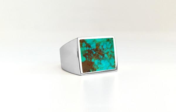 Legier Turquoise Stone Signet Ring