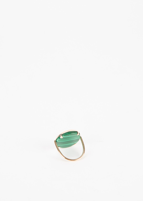 Ginette NY Ever Malachite Disc Ring