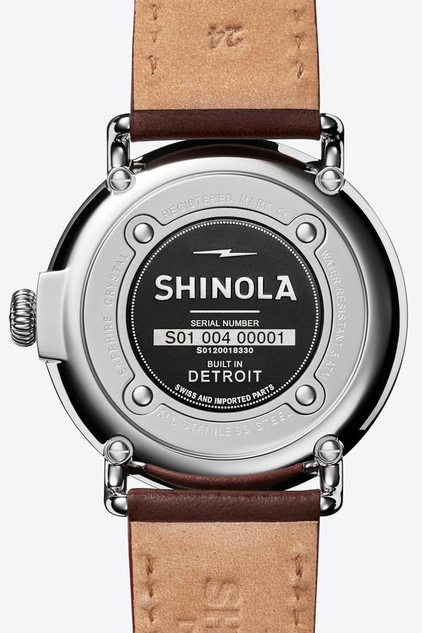 Shinola The Runwell 47mm Watch in Cool Grey/Latigo