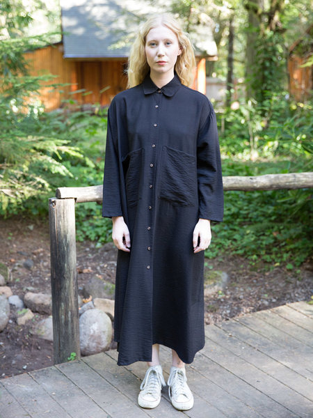 Sunja Link Black Shirt Dress