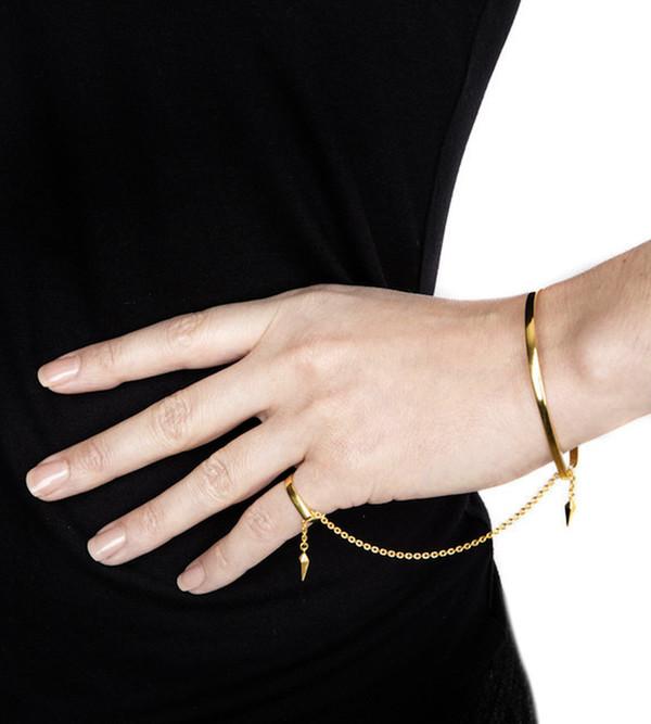 Maria Black 14K High Polished Philo Pinky Finger Bracelet