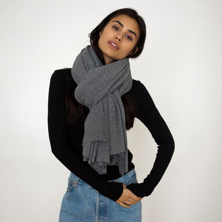 Donni Charm Thermal Blanket Scarf - Charcoal Grey