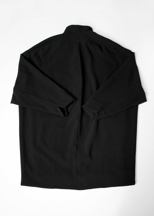 Berenik COAT REVERS PLAIN BLACK