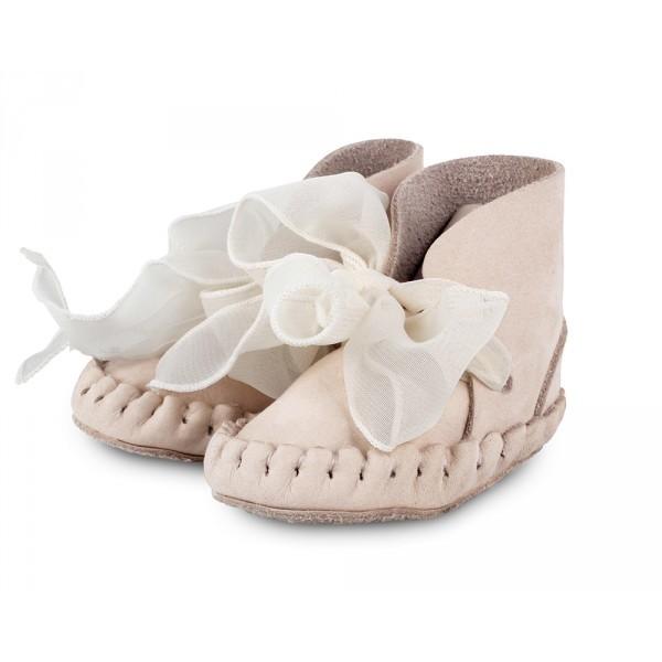 Donsje Pina Lining Powder Nubuck Organza Baby Shoe