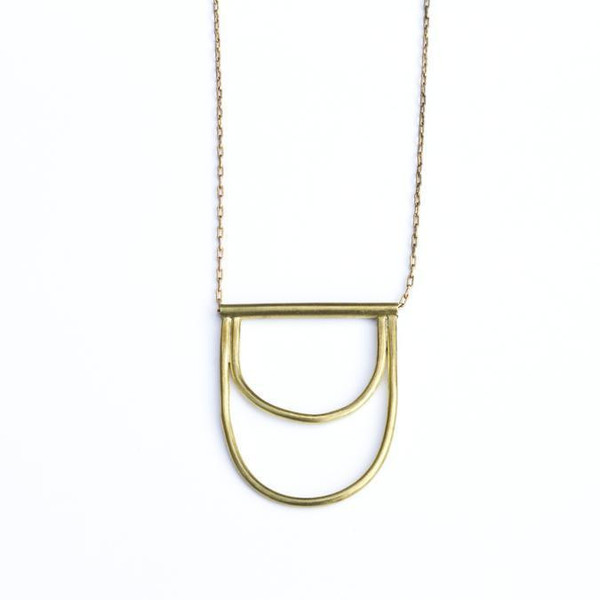 Another Feather Delos Necklace - Brass