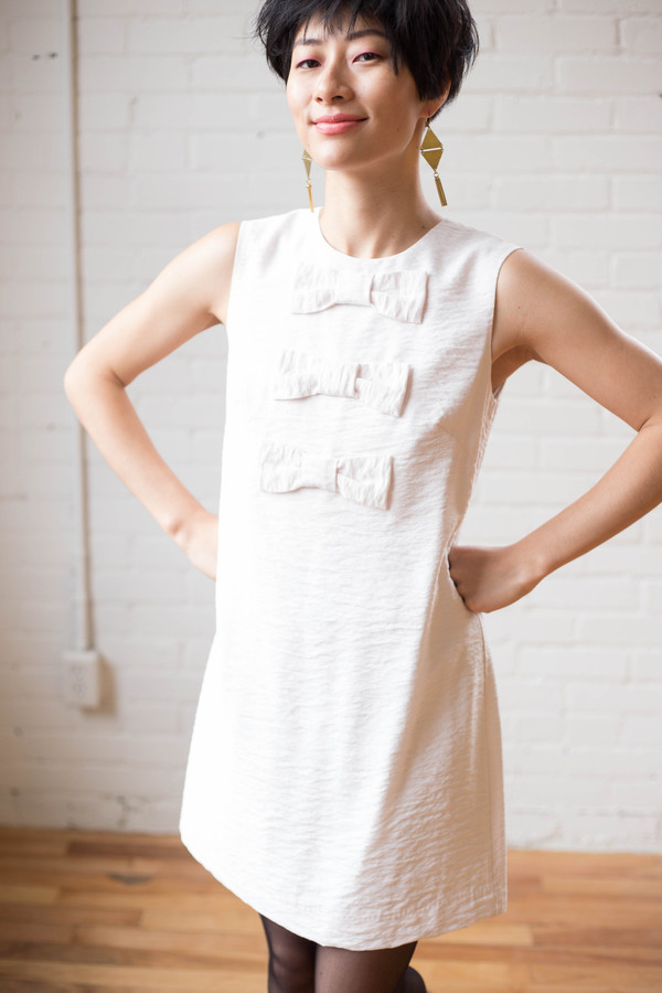 Birds of North America Flutter Dress (Ivory)