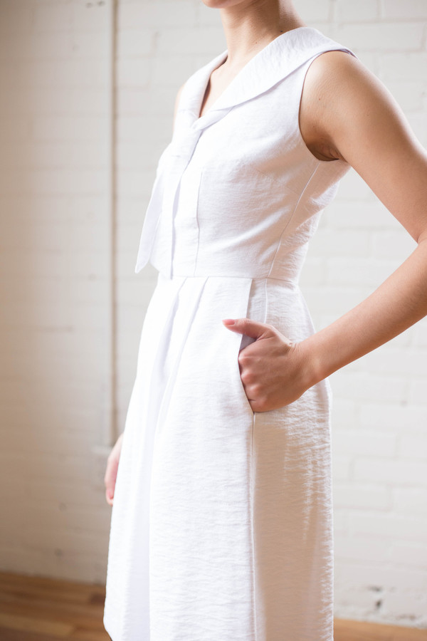 Birds of North America Hover Dress (White)