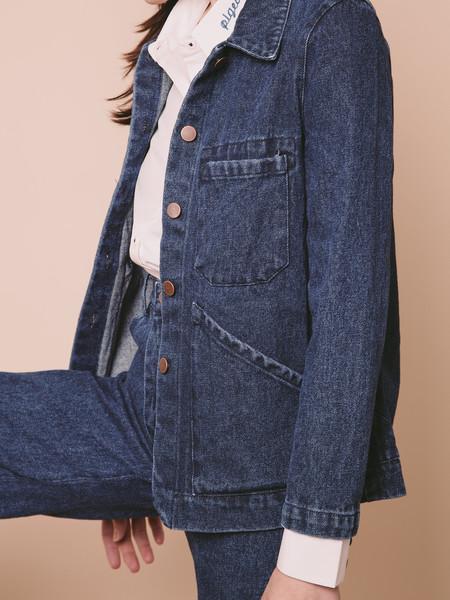 Carleen Triangle Pocket Jacket - Blue