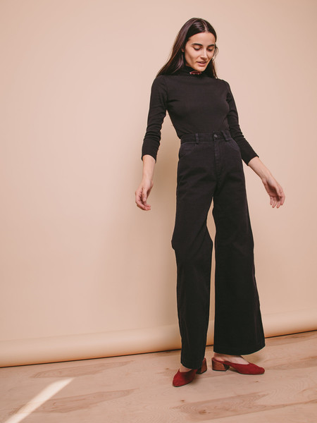 Carleen Nellie Wide Leg Jeans - Black
