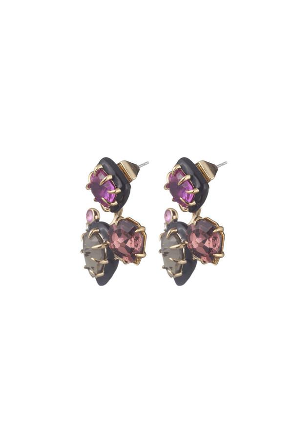 Alexis Bittar Gemstone Stud Removable Ear Jacket Earrings